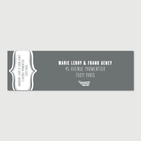 gabin mailing label