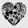 I heart you...avec silhouettes