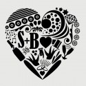 I heart you...avec initiales