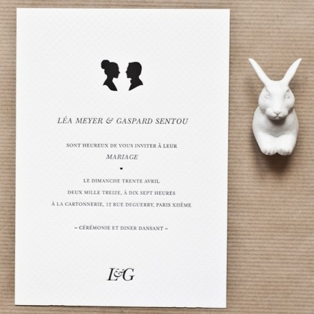 invitation gaspard letterpress