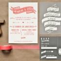 invitation letterpress gabin