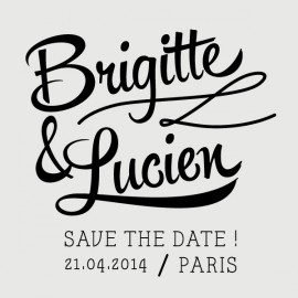 lucien save the date stamp