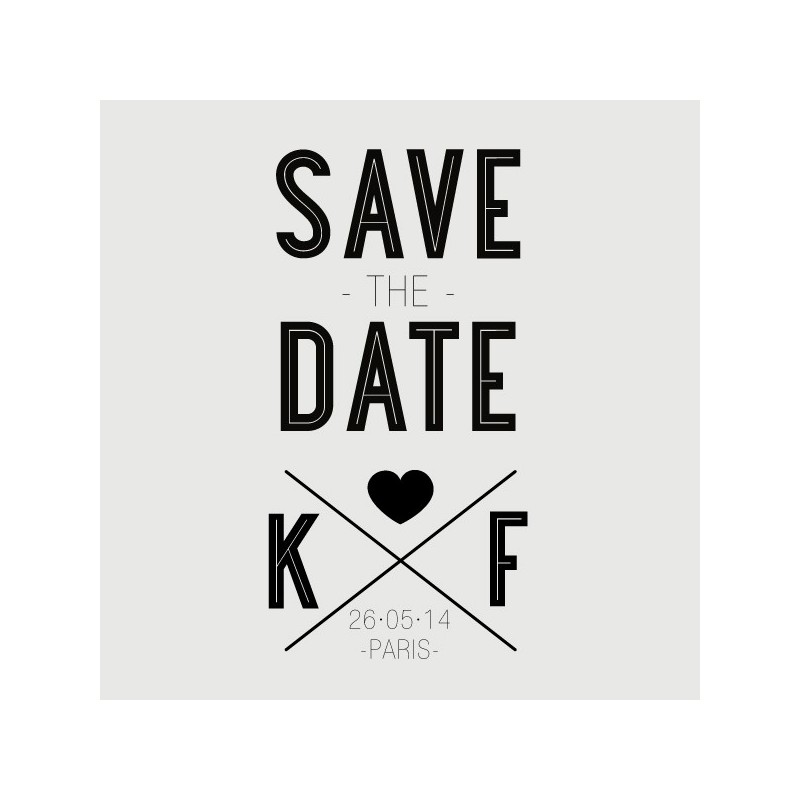 Felix Save The Date Stamp
