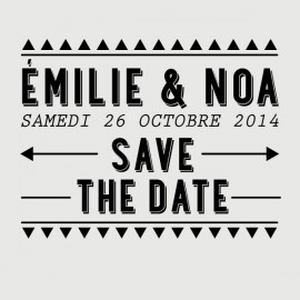 tampon save the date noa