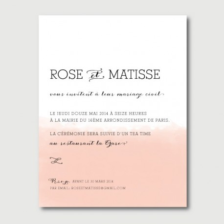 invitation secondaire matisse