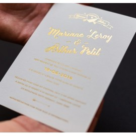 invitation goldfoil arthur