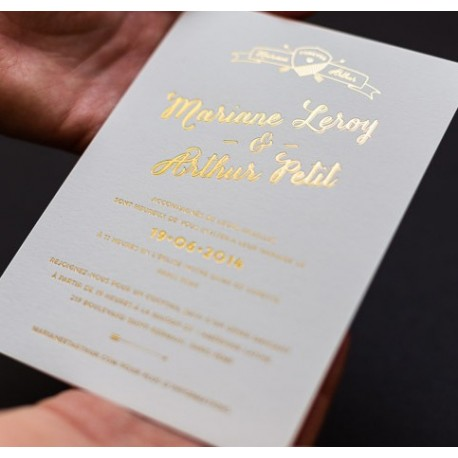 invitation letterpress arthur