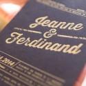 invitation letterpress ferdinand