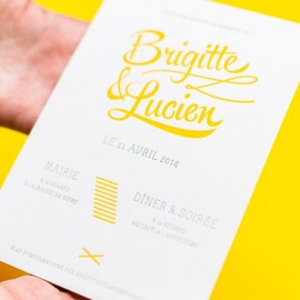 invitation letterpress lucien