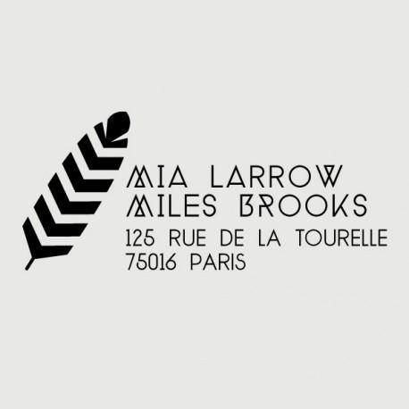 miles address stamp