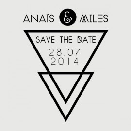 miles save the date stamp