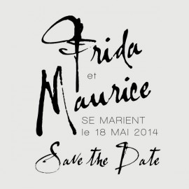maurice save the date stamp