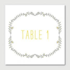 octave numéro de tables