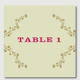 oscar table numbers