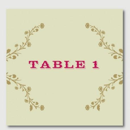 oscar numéro de tables