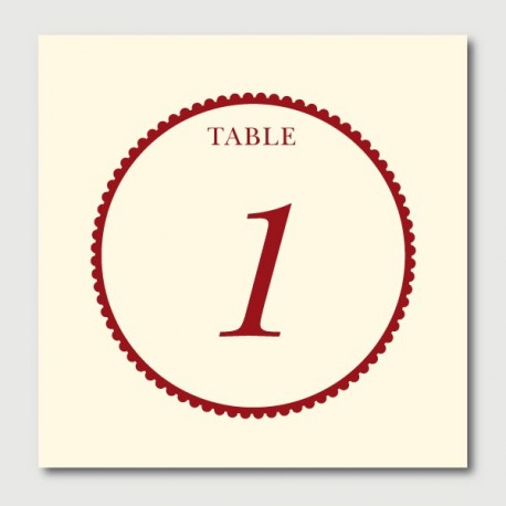 gaspard table numbers