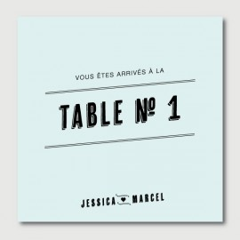 marcel table numbers