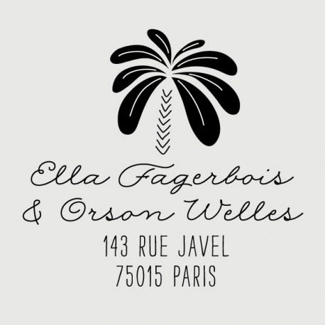 orson palm tree address stamp