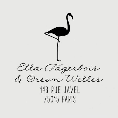 orson flamingo address stamp