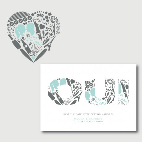 Accordian style invite suite