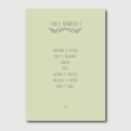 octave plan de table