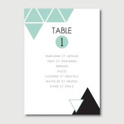 miles plan de table