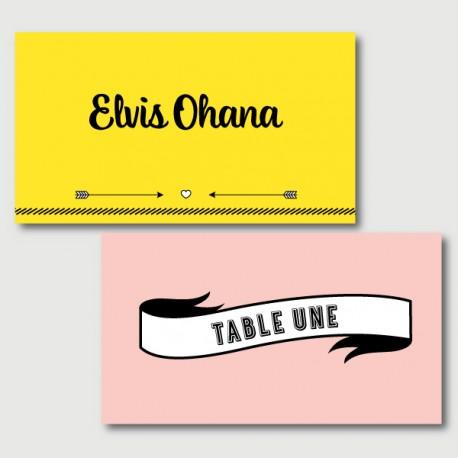 elvis place cards