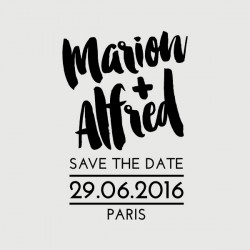 tampon save the date alfred