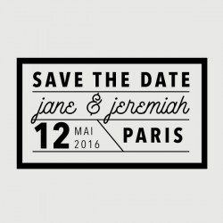 jeremiah save the date stamp