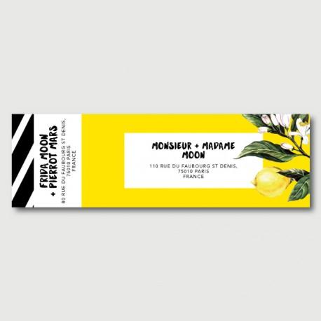 pierrot mailing label