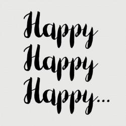happy happy happy stamp