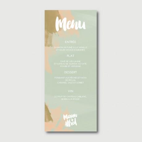 alfred menu
