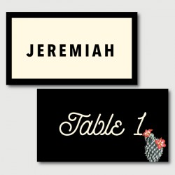 jeremiah place cards