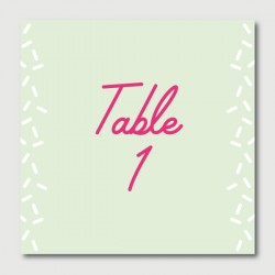 francis table numbers