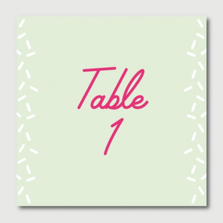 alfred table numbers