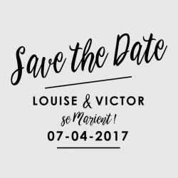 victor save the date stamp