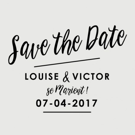 tampon save the date victor