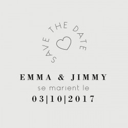 tampon save the date jimmy