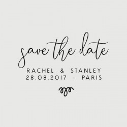 stanley save the date stamp