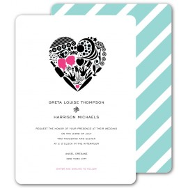 invitation truluv pink & pool